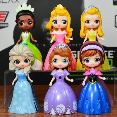 瑞仕茲迪士尼公主 蘇菲亞艾莎安娜茉莉愛洛公仔手辦玩具模型周邊