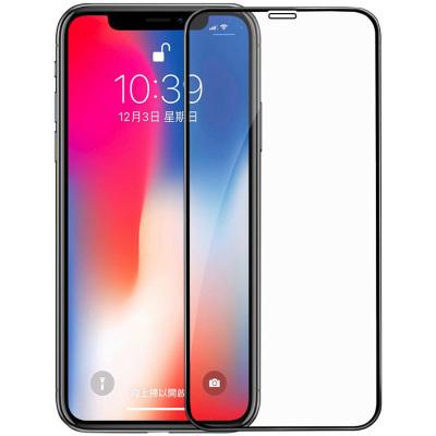 【送手機殼】蘋果x鋼化膜applexs全屏幕黑色iphone全屏256g絲印手機貼膜64g