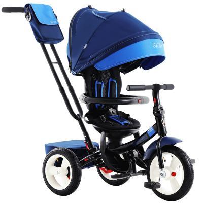 小虎子 雙向坐躺兒童三輪車舒適可躺可坐童車 1-6歲座椅旋轉寶寶手推車 充氣輪T420