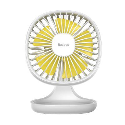 倍思迷你usb電風扇辦公室家用學生宿舍桌面手持便攜收納小型靜音無聲充電臺式小風扇三檔調速5片扇葉大風力白色