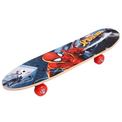 迪士尼DISNEY漫威兒童滑板四輪3-6-8-10歲男女童通用蜘蛛俠青少年初學者小孩基礎單翹四輪兒童滑板木板復仇者聯盟