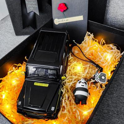 適用于奔馳巴博斯g65仿真1:24合金汽車模型擺件越野車送男朋友生日