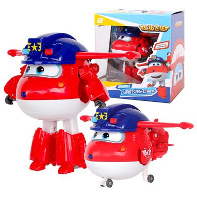 奧迪雙鉆(AULDEY)超級飛俠 男孩女孩兒童玩具車 變形機器人超級飛俠樂迪-警備款730231
