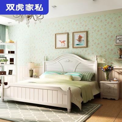 双虎家私 双人床1.8米家具美式田园床主卧床简约现代大床16M105