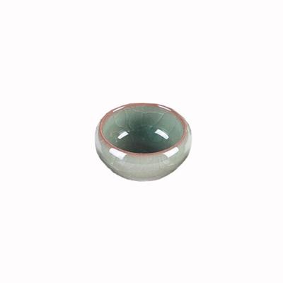 多功能陶瓷润墨水碟水洗水碗水绿色