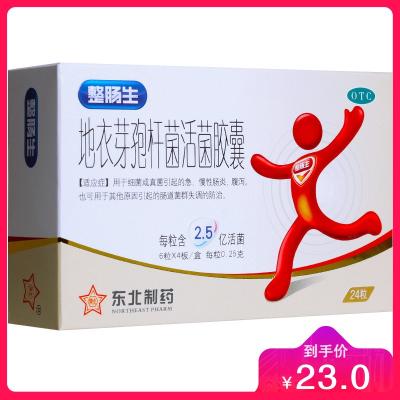 东北制药 整肠生 地衣芽孢杆菌活菌胶囊 0.25g*24粒