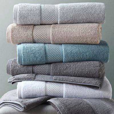 康爾馨五星級酒店浴巾純棉成人家用柔軟吸水男女韓版全棉大號加厚-摩納哥浴巾