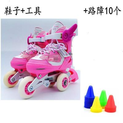 3歲到10歲三輪兒童閃光輪滑溜冰鞋6歲小孩防摔旱冰鞋8歲雙排初學