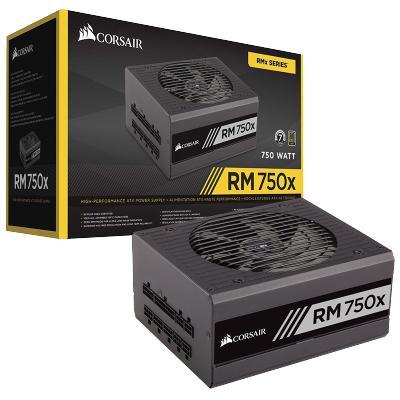 CORSAIR/美商海盗船 RM750X 台式机电源 额定750W 金效能全模组 电脑电源