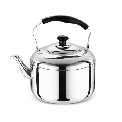 加厚不銹鋼燒水壺家用燒煤氣燒水壺大容量鳴笛天燃氣電磁爐茶壺-4L加厚款(小容量3-4人使用)