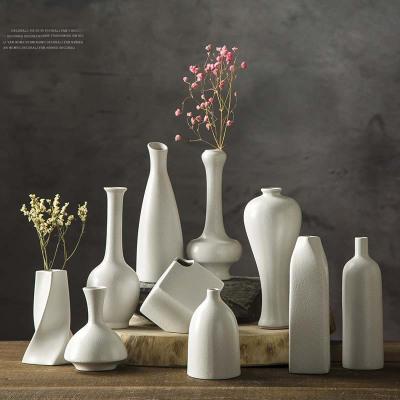 每日精進(enhancement)陶瓷復古簡約創意水培桌面小花瓶 金屬粗陶餐客廳擺件家居裝飾品