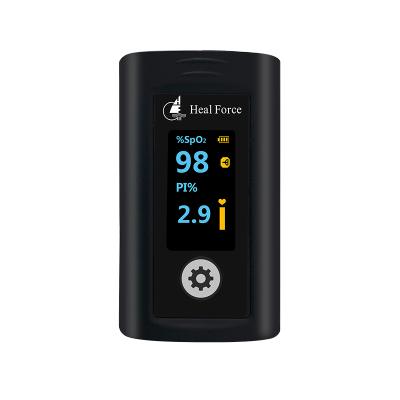 力康(Heal Force)藍牙血氧儀指夾式血氧飽和度檢測儀APP云端服務智能脈搏心率監測 Prince-100NW