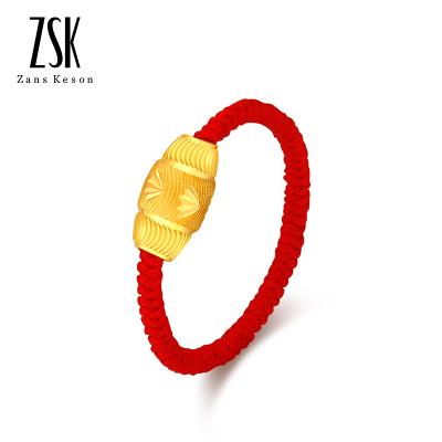 ZSK珠寶 黃金戒指女 999足金路路通轉運珠情侶戒指時尚金戒指女士戒指 送女友(定價) 約0.3-0.35克