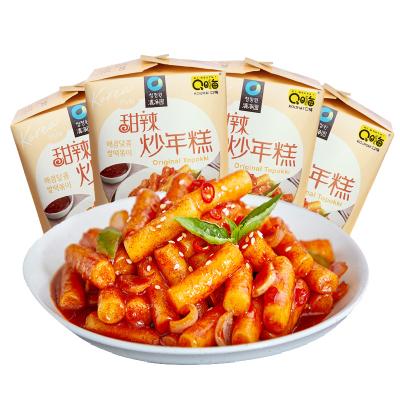 口嗨清凈園韓式甜辣炒年糕4杯裝1箱760g韓式方便速食微波年糕