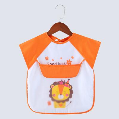 【布丁腳丫】0-5歲寶寶罩衣夏季薄款兒童無袖吃飯防水防臟背心式飯兜男童無袖反穿衣