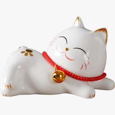 每日精進(enhancement)酒柜裝飾品擺件陶瓷客廳擺件貓創意現代簡約家里家居軟裝飾品