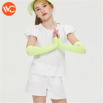 韓國vvc 兒童冰絲袖套夏季防曬袖子防紫外線手臂套長款卡通護臂套