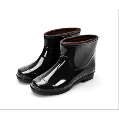 義嵐 秋冬雨鞋男低筒防滑男雨靴短筒加絨保暖水鞋ZR-038