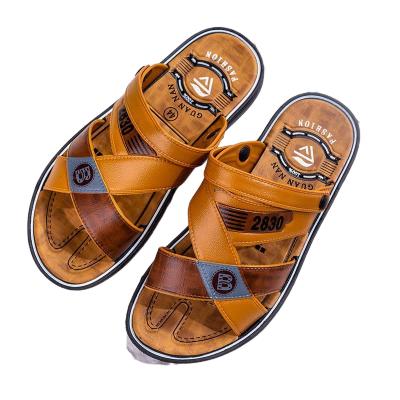 莎丞2020夏新款涼鞋男士防滑耐磨PVC底沙灘鞋涼鞋露趾透氣休閑拖鞋