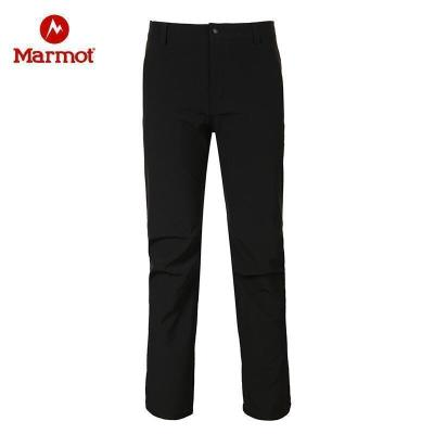 Marmot/土撥鼠秋冬款防潑水加厚耐磨透氣保暖M1男士軟殼褲