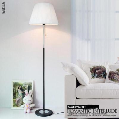 家装好货现代简约客厅卧室床头灯欧式布艺装饰遥控LED落地灯调光台灯嘉威新款