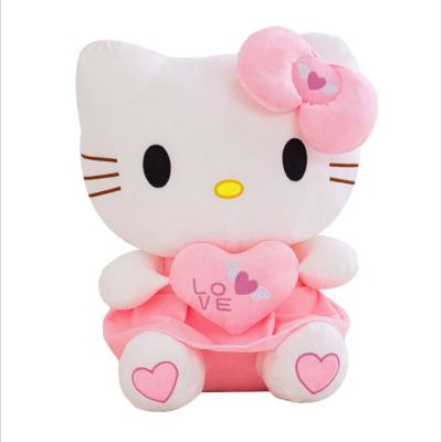 大手牽小手 Kitty凱蒂貓毛絨玩具公仔 新款KT貓公仔抱心哈嘍kt布娃娃抱枕Hello Kitty玩偶生日表白禮物