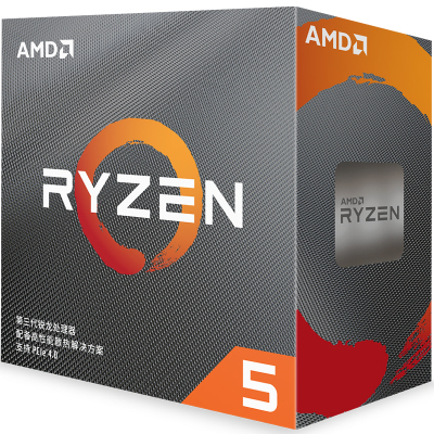AMD 锐龙5 3600 处理器 (r5)7nm 6核12线程 3.6GHz 65W AM4接口 盒装CPU