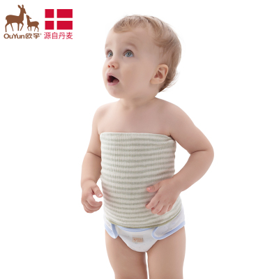 欧孕(OUYUN)宝宝护肚围 婴儿护肚脐护围腹围 护脐带 纯棉 棕色【单层 】48cm(17*17cm)