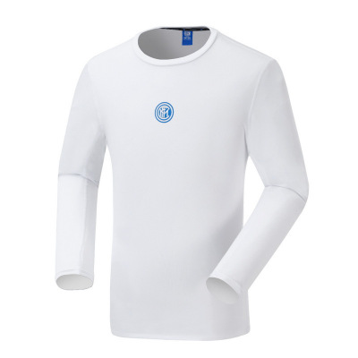 國際米蘭足球俱樂部官方男子春秋季運動T恤男長袖戶外寬松速干衣跑步休閑體恤健身上衣(Inter Milan)