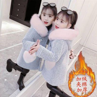 女童洋气外套秋冬装2019新款韩版儿童加厚中大童毛呢子仿雪貂绒大衣 莎丞