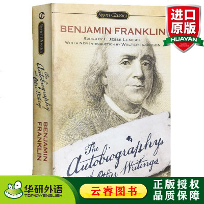富蘭克林自傳及作品集 英文原版名人傳記 The Autobiography and Other Writings