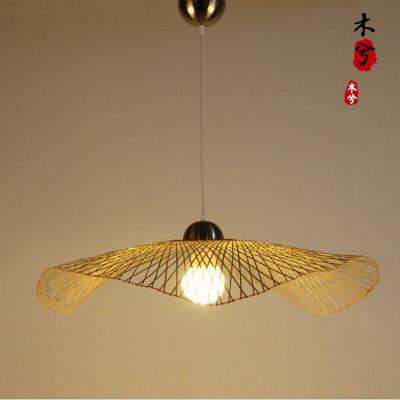 蒹葭東南亞竹編藝術吊燈創意個性餐廳茶室裝飾工程燈現代簡約單個餐燈 單個直徑85cm