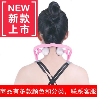 手动颈椎按摩器颈部肩颈滚轮按摩颈椎小神器经夹脖子家用手持式y