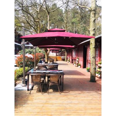 蘇寧放心購庭院傘戶外遮陽傘室外大太陽傘3米廣告擺攤傘露天花園保安羅馬傘A-STYLE