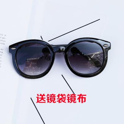 儿童运动太阳镜太阳镜男童炫彩墨镜宝宝太阳眼镜圆形树脂镜片 臻依缘