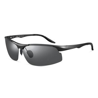 普萊斯(pulais)釣魚眼鏡看漂垂釣多場景型太陽鏡男偏光變色日夜兩用駕駛眼鏡夜視開車專用男士墨鏡8003 單鏡框