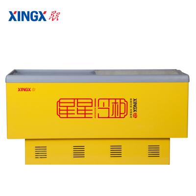 星星(XINGX) SD/SC-390BP 390升 卧式冷柜 冰柜 岛柜 推拉门 冷藏冷冻转换柜 商用展示柜