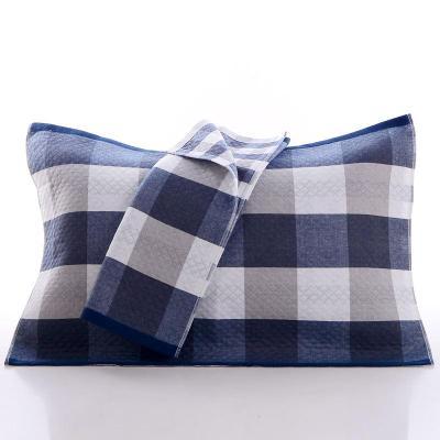 【天天純棉三層紗布枕巾 全棉成人布藝枕巾一對 秋冬