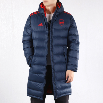 Adidas阿迪達斯AFC 阿森納冬季足球保暖長夾克羽絨服外套男FQ4109