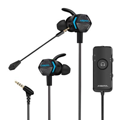 西伯利亚 MG-2 PRO 耳机入耳式震动3D环绕立体声游戏耳麦 电脑手机音乐游戏耳塞带麦 黑色