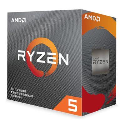 AMD 銳龍5 3600 處理器 (r5)7nm 6核12線程 3.6GHz 65W AM4接口 盒裝CPU 第三代銳龍 配套X570/X470/B450/A320主板及顯卡使用
