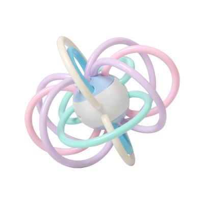 童智欣曼哈頓球手抓球抓握玩具水煮磨牙嬰兒寶寶玩具硅膠咬咬牙膠 1011
