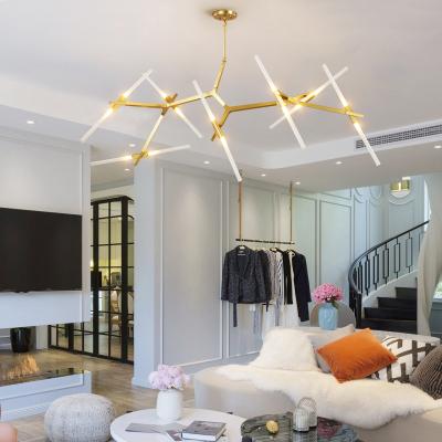 幕光城 北歐后現代藝術工業風意大利設計師風格歐式簡約創意客廳個性人字樹杈吊燈鐵藝