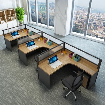 鑫辦公 現代簡約 辦公桌椅組合職員辦公家具46人位轉角員工桌隔斷屏風卡座