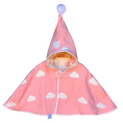 雅贊嬰兒披風斗篷春夏秋冬款保暖新生嬰幼兒童男女純棉寶寶披肩外出服