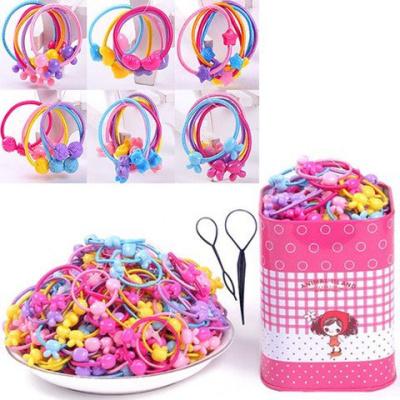 搭啵兔100根不傷發兒童皮筋韓國橡皮筋發繩女孩扎頭發圈頭繩頭飾發飾品
