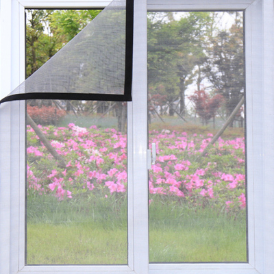 窗户防蚊子纱窗纱网磁性沙窗门帘家用可拆卸自粘式魔术贴自装窗帘- 150x180cm