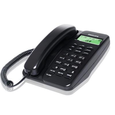 飛利浦(PHILIPS)TD-2808 有繩話機 /家用/辦公話機/來電顯示/免電池/固定電話座機 (黑色)