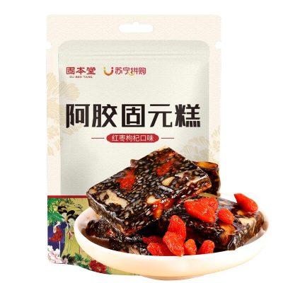 固本堂(GuBenTang)阿胶糕即食女手工阿胶固元膏纯60g东阿正品阿胶膏