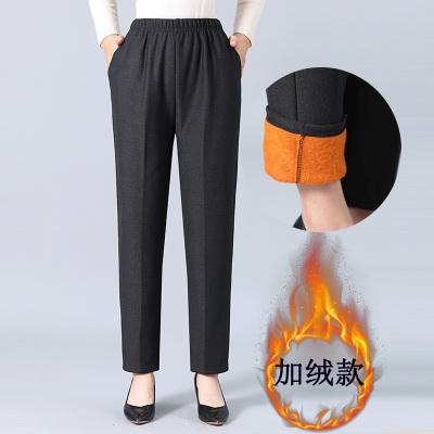 2020中老年女褲外穿棉褲大碼媽媽褲老年人九分褲子